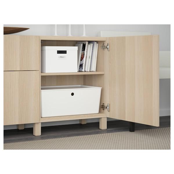 BESTÅ Förvaring med lådor, vitlaserad ekeffekt/Lappviken/Stubbarp vitlaserad ekeffekt, 180x42x74 cm