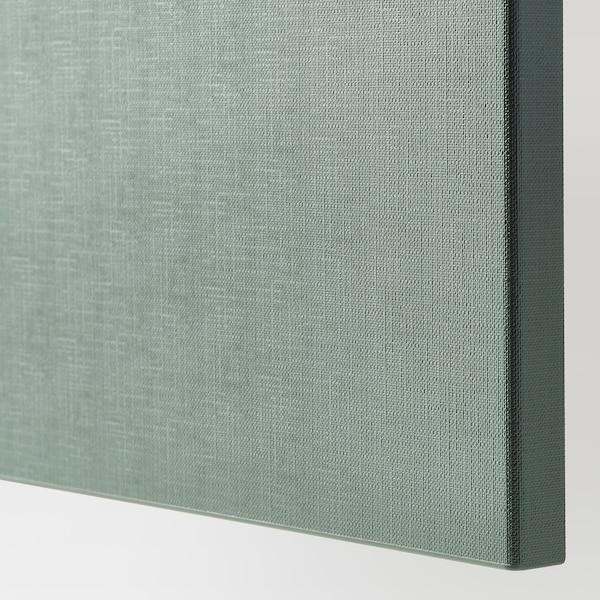 BESTÅ Förvaringskombination+dörrar/lådor, vitlaserad ekeffekt/Notviken grågrön, 120x42x65 cm