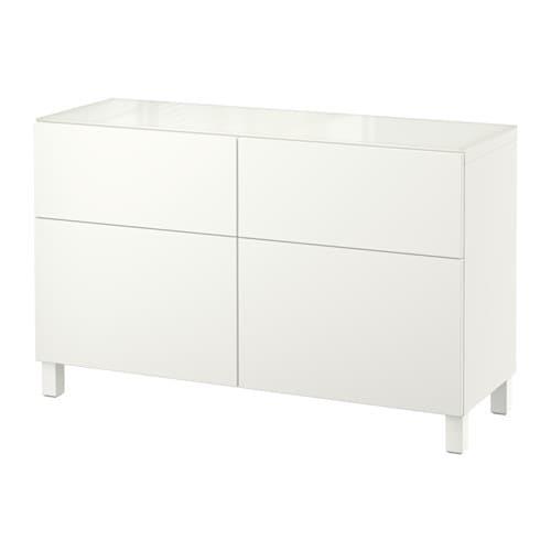 Ikea Dombas Wardrobe Closet ~   med lådor  Lappviken vit, lådskena, tryck och öppna  IKEA