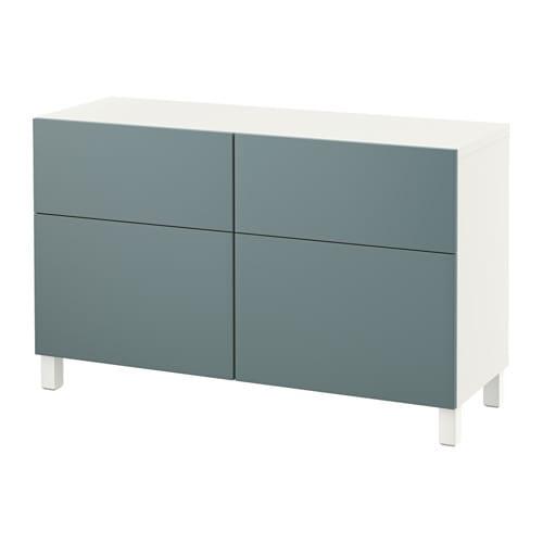 Ikea Dombas Wardrobe Closet ~  lådor  vit Valviken gråturkos, lådskena, tryck och öppna  IKEA