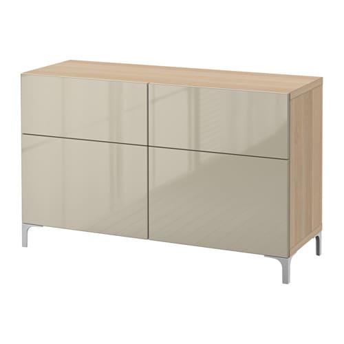 Ikea Teppich In Waschmaschine ~  Selsviken högglans beige, lådskena, tryck och öppna  IKEA