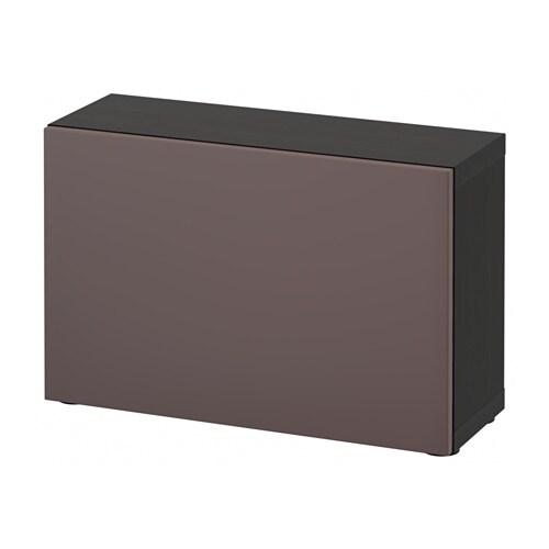 BESTå Hylla med dörr svartbrun Valviken mörkbrun IKEA