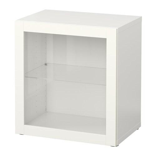 BESTå Hylla med glasdörr Sindvik vit IKEA