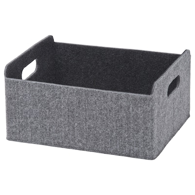 BESTÅ Låda, grå, 25x31x15 cm