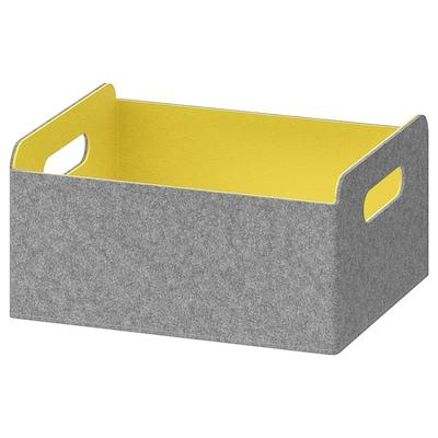 BESTÅ Låda, gul, 25x31x15 cm