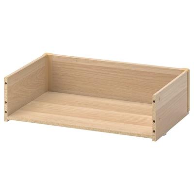 BESTÅ Lådstomme, vitlaserad ekeffekt, 60x15x40 cm