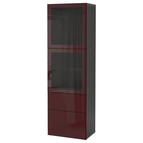 IKEA BESTÅ Förvaringskombination med glasdörr