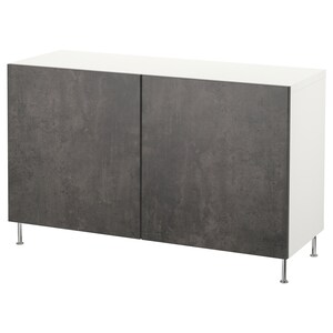 Färg: Vit kallviken/stallarp/mörkgrå betongmönstrad.