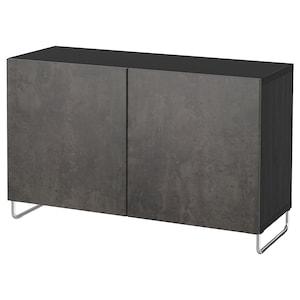 Färg: Svartbrun kallviken/sularp/mörkgrå betongmönstrad.