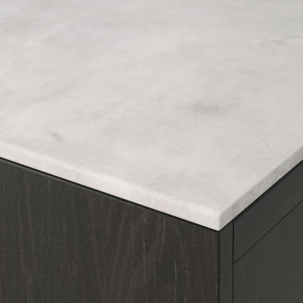 BESTÅ Toppskiva, betongmönstrad/ljusgrå, 180x42 cm