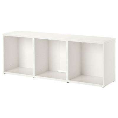 BESTÅ Tv-bänk, vit, 180x40x64 cm