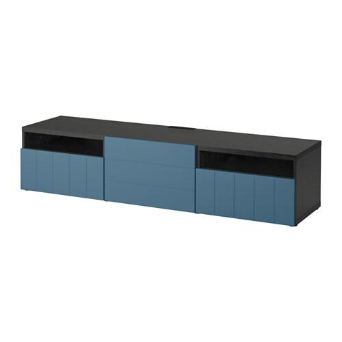 best tv b nk svartbrun hallstavik m rkbl l dskena tryck och ppna ikea. Black Bedroom Furniture Sets. Home Design Ideas