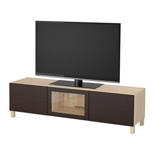 Bestå Tv Bänk Med Lådor Och Dörr Ikea
