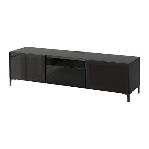 best tv b nk svartbrun selsviken h gglans svart. Black Bedroom Furniture Sets. Home Design Ideas