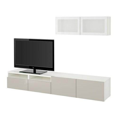 best tv f rvaring kombination glasd rrar vit selsviken. Black Bedroom Furniture Sets. Home Design Ideas