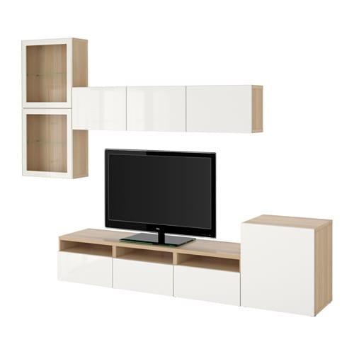 Ikea Dombas Wardrobe Closet ~  Selsviken högglans vit klarglas, lådskena, tryck och öppna  IKEA
