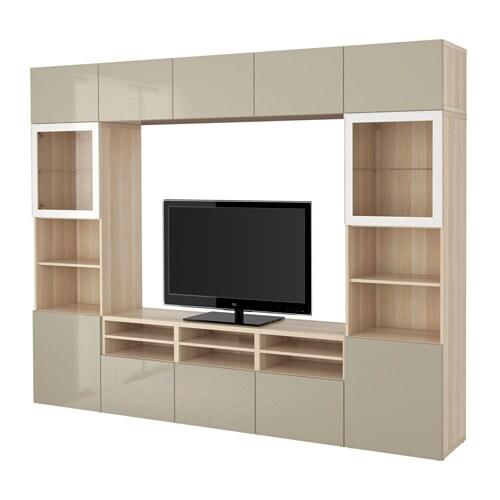 BESTå Tv förvaring kombination glasdörrar IKEA