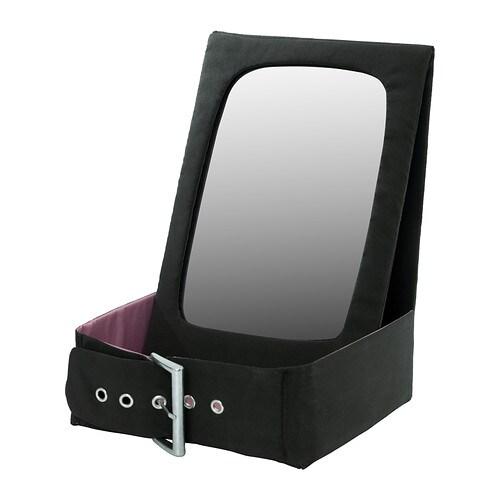 BETRAKTA Bordsspegel med förvaring , svart, rosa Bredd: 21 cm Höjd: 28 cm / 28 cm