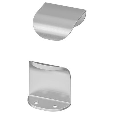 BILLSBRO Handtag, rostfritt stålfärg, 40 mm