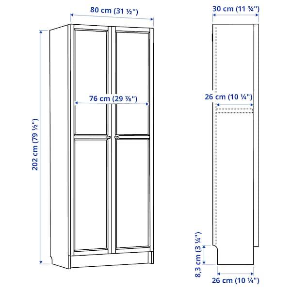 BILLY Bokhylla med dörrar, vit, 80x30x202 cm