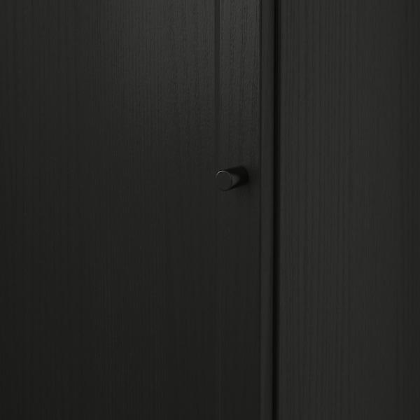 BILLY / OXBERG Bokhylla med dörr, svartbrun, 40x30x106 cm