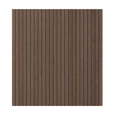 BJÖRKÖVIKEN Dörr, brun betsad ekfaner, 60x64 cm