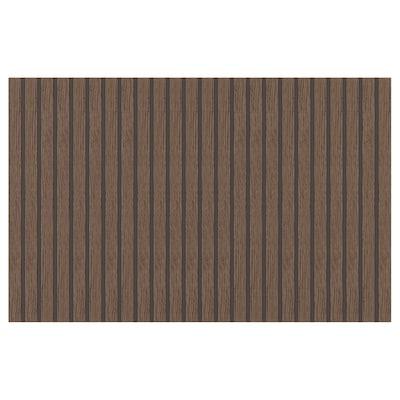 BJÖRKÖVIKEN Dörr/lådfront, brun betsad ekfaner, 60x38 cm