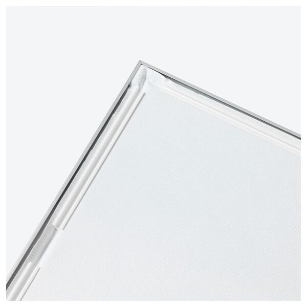 BJÖRKSTA bild med ram ängsdröm II/aluminiumfärg 140 cm 56 cm