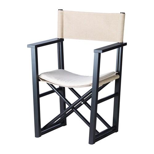 BJÖRKSNÄS Regissörstol IKEA Går att vika ihop och är därför praktisk att förvara.