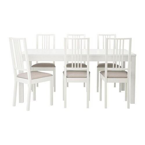 BJURSTA / BÖRJE Bord och 6 stolar IKEA