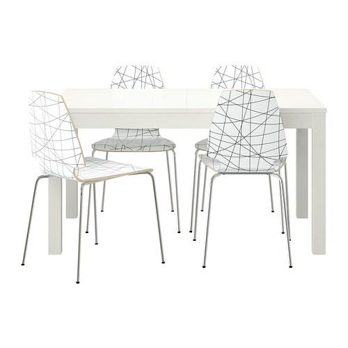 BJURSTA / VILMAR Bord och 4 stolar IKEA
