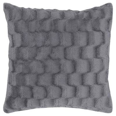 BLÅREGN Kuddfodral, grå/ruta, 50x50 cm