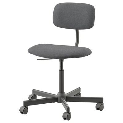 BLECKBERGET Skrivbordsstol, Idekulla mörkgrå