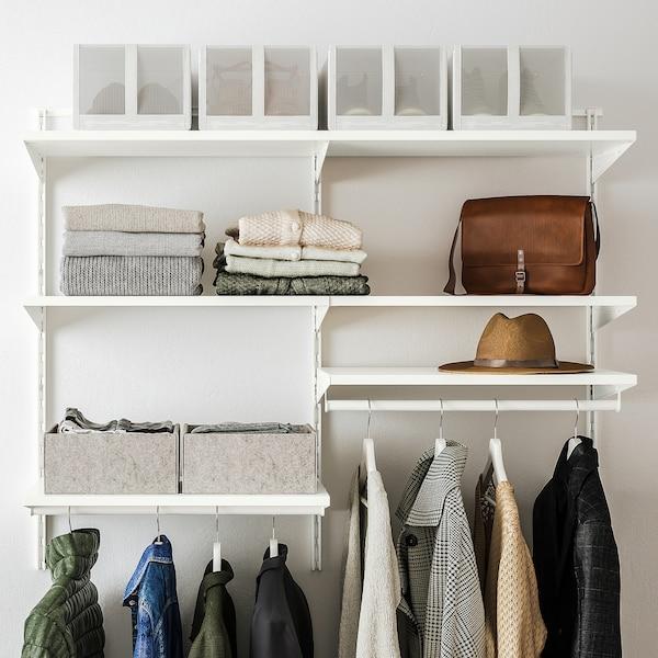 BOAXEL Garderobskombination, vit, 125x40x101 cm