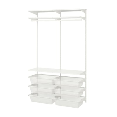 BOAXEL Garderobskombination, vit, 125x40x201 cm