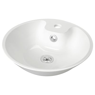 BODVIKEN Tvättställ för bänkskiva, vit, 41 cm
