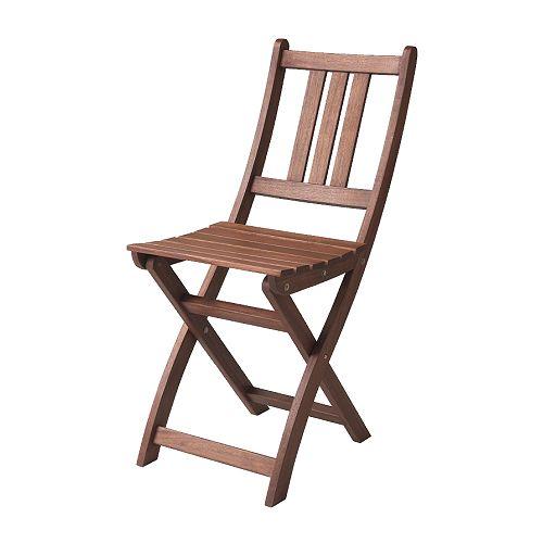 klappstol stolar stol ar , brun boll�