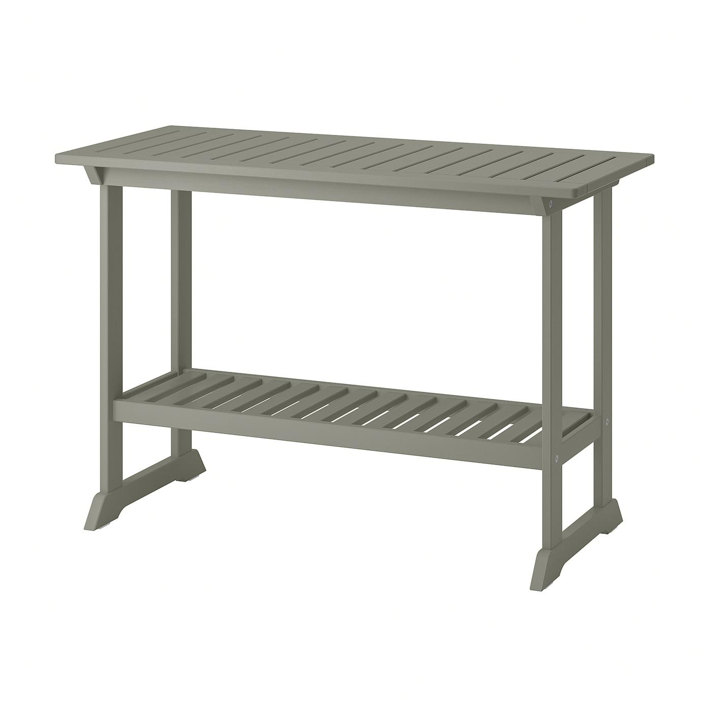BONDHOLMEN Avlastningsbord, utomhus, grå, 111x46 cm