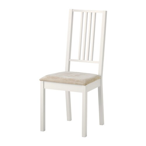 BÖRJE Stol IKEA Stoppad sits för ökad sittkomfort. Avtagbar och maskintvättbar klädsel; gör den lätt att hålla ren.