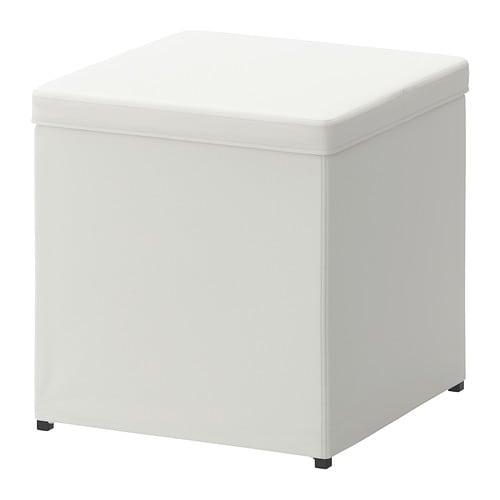 BOSNäS Fotpall med förvaring Ransta vit IKEA
