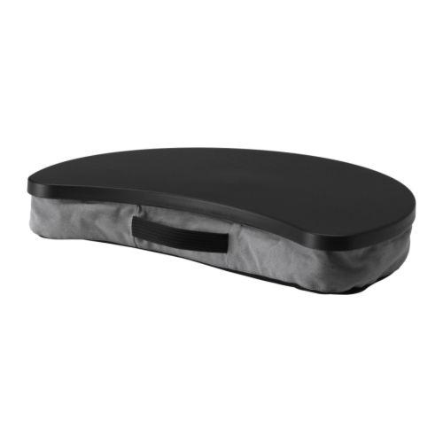 BRÄDA Laptopstöd grå, svart Bredd: 51 cm Djup: 38 cm Höjd: 8 cm