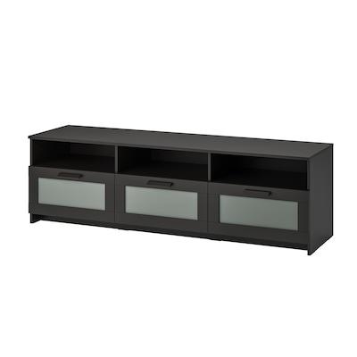 BRIMNES Tv-bänk, svart, 180x41x53 cm