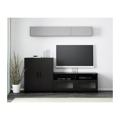 BRIMNES Tv Mbel Kombination Svart IKEA