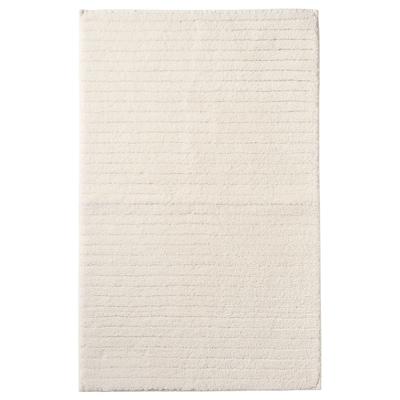 BRINASEN Badrumsmatta, vit, 50x80 cm