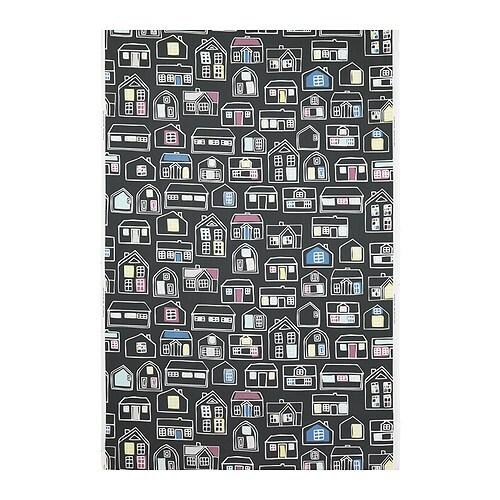 BRITTEN HUS Metervara, grå, flerfärgad Bredd: 150 cm Mönsterhöjd: 92 cm