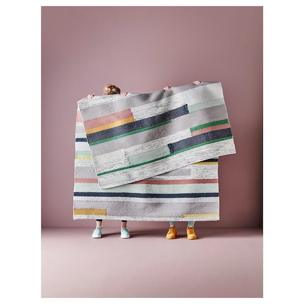 BRÖNDEN Matta, kort lugg, handgjord flerfärgad, 170x240 cm