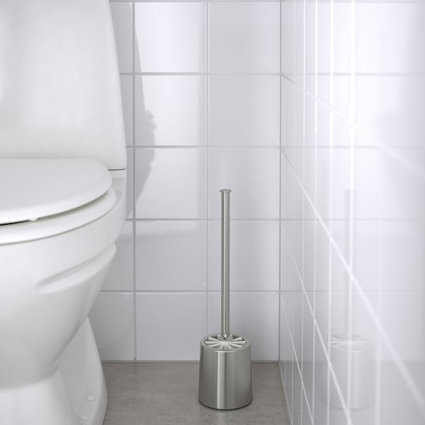 BROGRUND toalettborste rostfritt stål 40 cm 10 cm