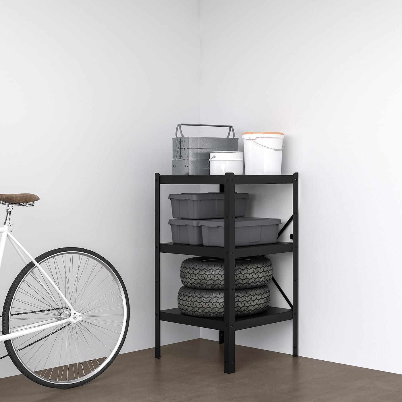 BROR Stolpe, svart, Höjd: 110 cm IKEA