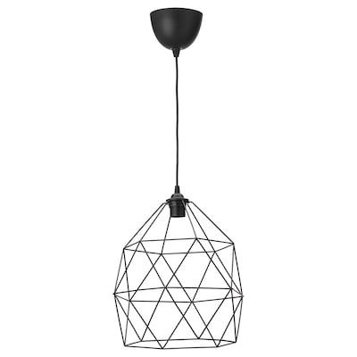 BRUNSTA / HEMMA Taklampa, svart, 30 cm