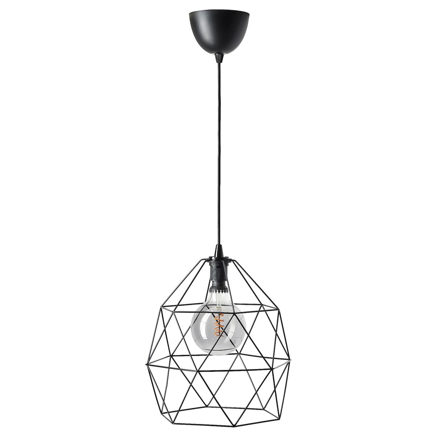 BRUNSTA Taklampskärm, svart, Längd: 30 cm IKEA